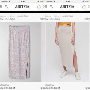 Wilfred Free Shields Thigh-slit Midi Skirt